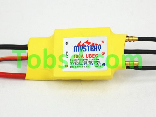 Mystery RC 100A ESC Forward Backward Brushless 5V/3A W/Water Cooling Boat